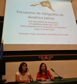 Presentación del XVII Encuentro de Geógrafos de América Latina (EGAL 2019)